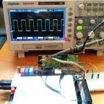 PWM en osciloscopio por I2C.