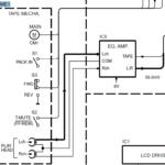 Diagrama de bloques electrónico de la autoradio Kenwood KRC-21S